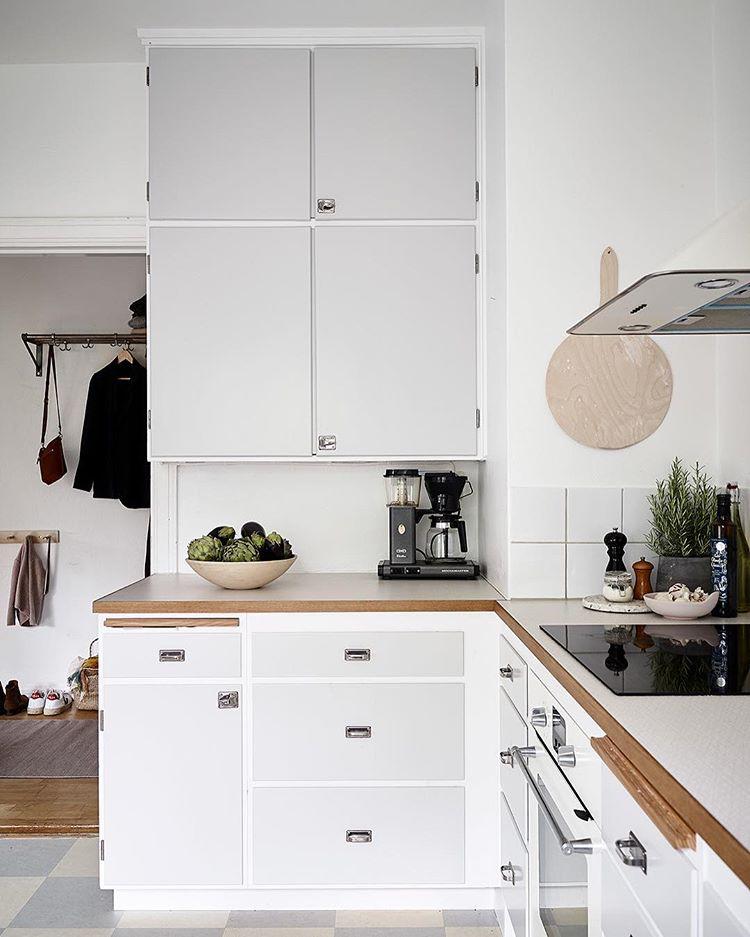 Vintage kök interiör design exempel