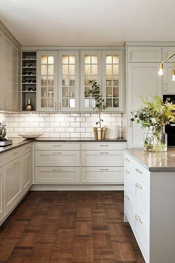Vita köksskåp Idéer
